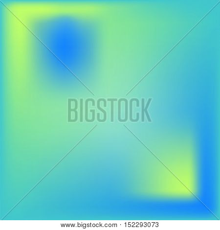 Abstract vector background with mesh effect. Blue yellow and turquoise colors. Sea colored gradient tile for graphic or web design cover template card backdrop