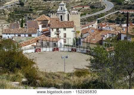 Bullring Morella Castellon Spain. declared cultural heritage