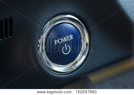 Power button for starting a modern hybrid car