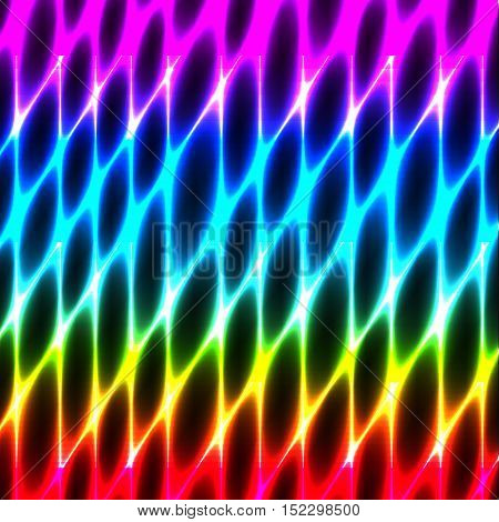 Cell tissue honeycomb abstract neon seamless vector background