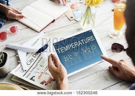 Temperature Weather Forecast Climate Concept