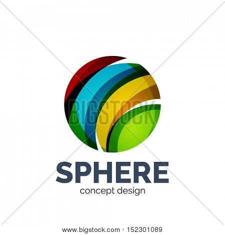 sphere abstract logo template. Colorful unusual business icon