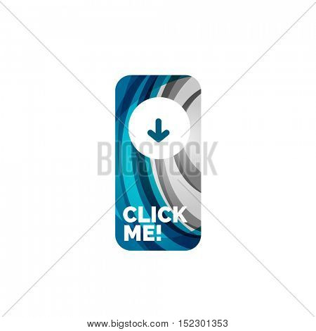 abstract rectangle button template