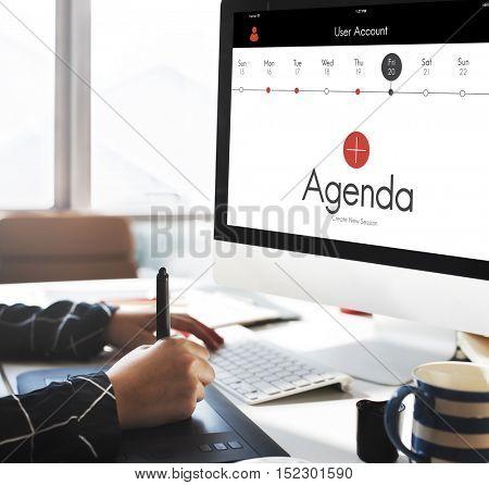 Agenda Appointment Calendar Events Concept