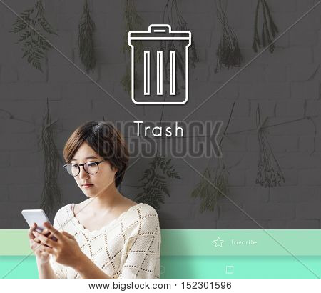 Trash Clean Delete Remove Concept