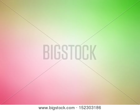Abstract Gradient Pink Green White Colored Blurred Background