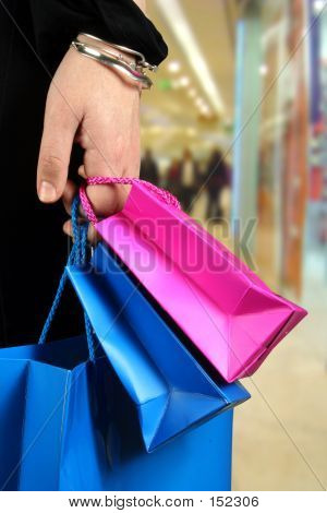 Carrying Shopping Bags In Shopping Centre