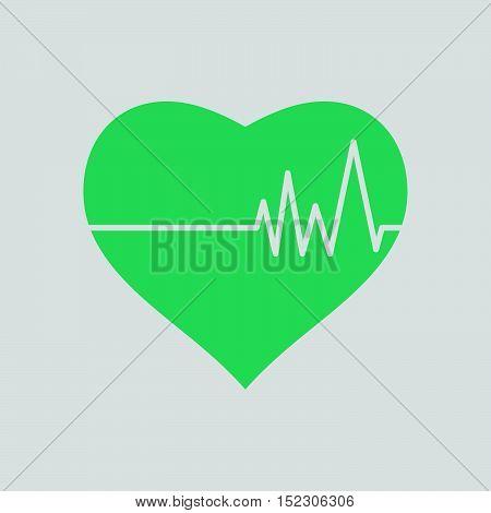 Heart With Cardio Diagram Icon