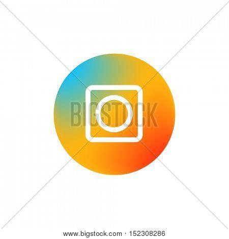 Web color icon. Social media pictogram