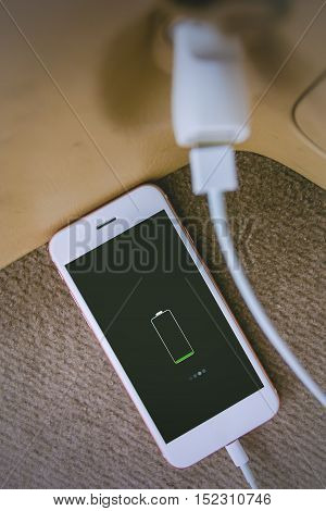 Charger plug phone and smartphone  on car