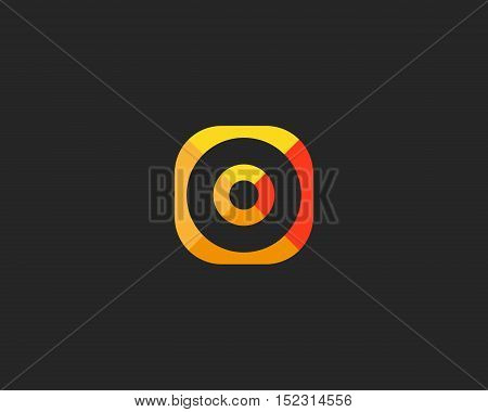 Abstract target logo design. Aim creative symbol. Universal vector icon. Round goal success sign