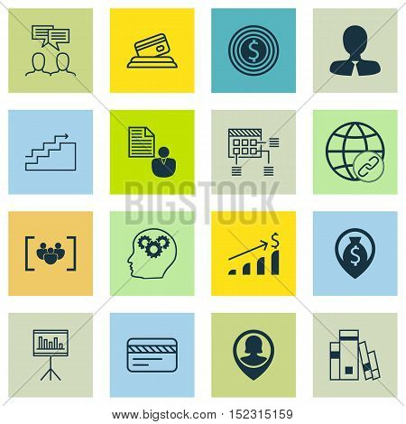 Set Of 16 Universal Editable Icons For Airport, Project Management And Education Topics. Includes Ic