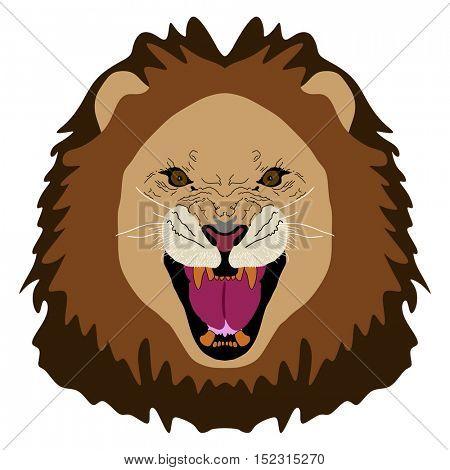 Vector - Lion Face