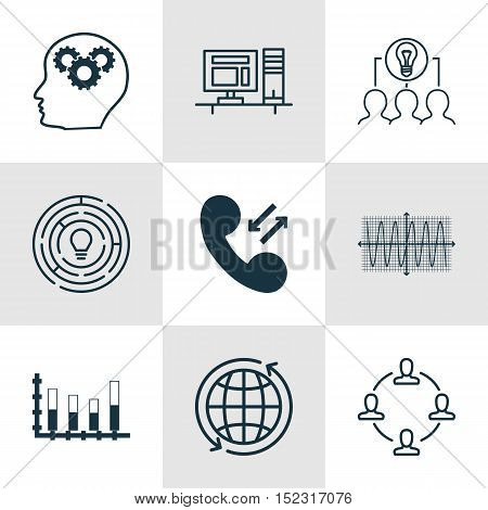 Set Of 9 Universal Editable Icons For Human Resources, Airport And Business Management Topics. Inclu