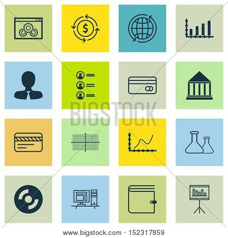 Set Of 16 Universal Editable Icons For Human Resources, Marketing And Computer Hardware Topics. Incl