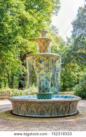 Mosaic Fountain In Dresden