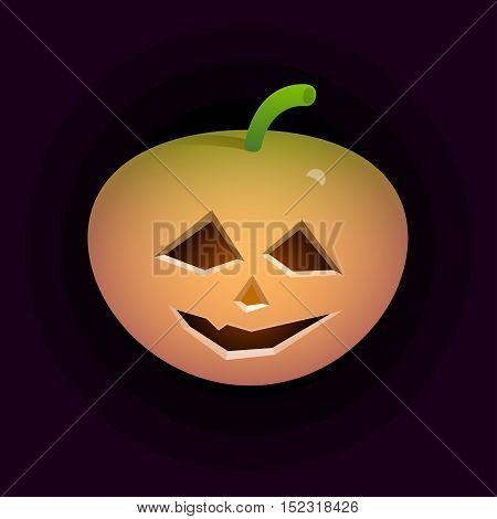 a pumpkin spooky face for Halloween isolated