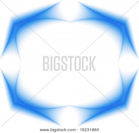 frame from abstract image of the blue waves on white background