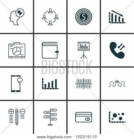 Set Of 16 Universal Editable Icons For Human Resources, Project Management And Airport Topics. Inclu