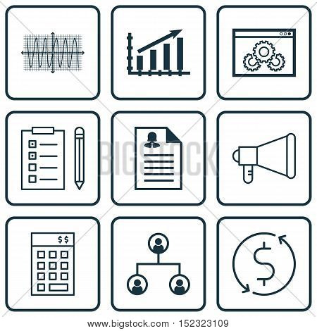 Set Of 9 Universal Editable Icons For Human Resources, Airport And Marketing Topics. Includes Icons