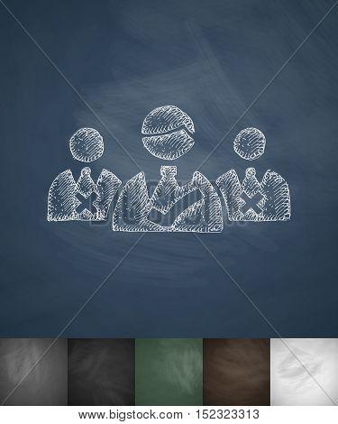 candidates icon. Hand drawn vector illustration. Chalkboard Design