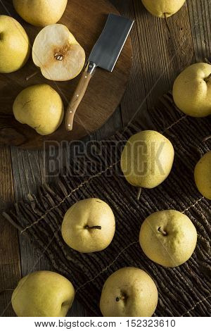 Raw Yellow Organic Asian Pears