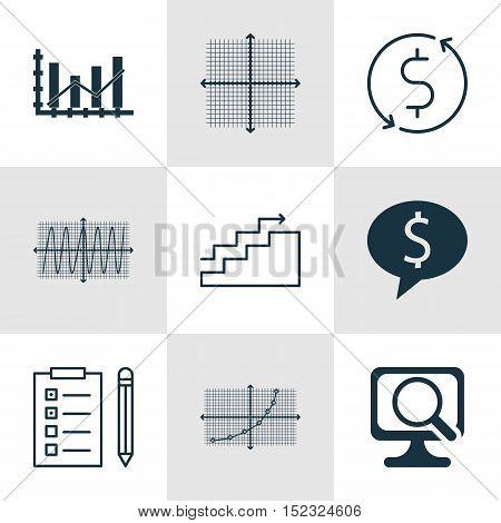 Set Of 9 Universal Editable Icons For Computer Hardware, Airport And Human Resources Topics. Include