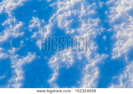 abstract melting snow background with blue tones, outdoors