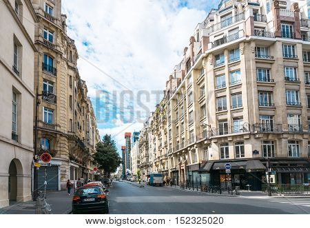 PARIS, FRANCE - July 31 : Tourists on foot Graben Street view around Paris city. Paris is the capital and most populous city of France.July 31, 2016, Paris, France.
