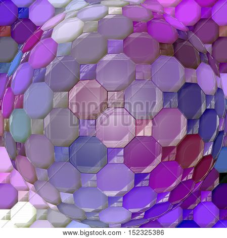 Abstract coloring background of the horizon gradient with visual mosaic,spherize and plastic wrap effects