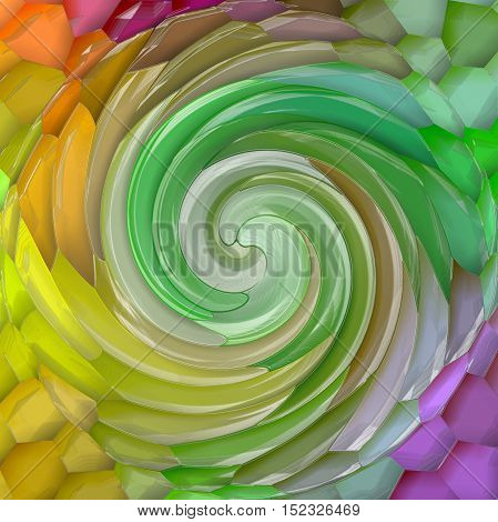 Abstract coloring background of the pastels gradient with visual mosaic,spherize,twirl and plastic wrap effects