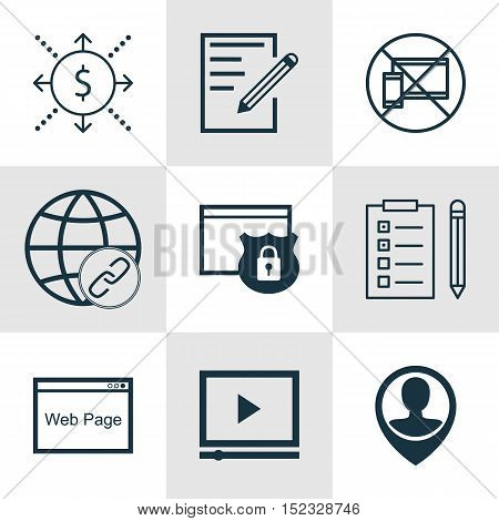 Set Of 9 Universal Editable Icons For Education, Project Management And Human Resources Topics. Incl