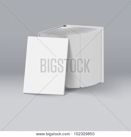Stack of White Books. Mockup Template for Design