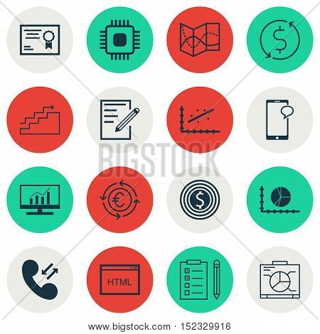 Set Of 16 Universal Editable Icons For Travel, Statistics And Human Resources Topics. Includes Icons