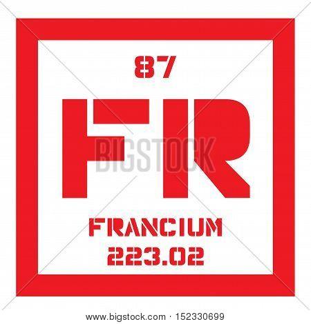Francium Chemical Element