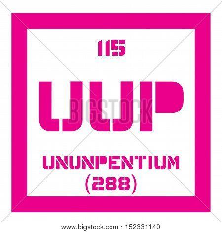 Ununpentium Chemical Element