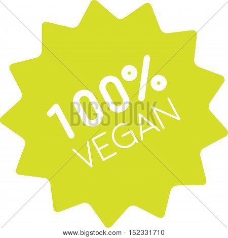 100% Vegan Badge Simple