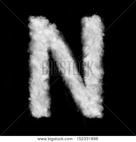 letter N made of the clouds