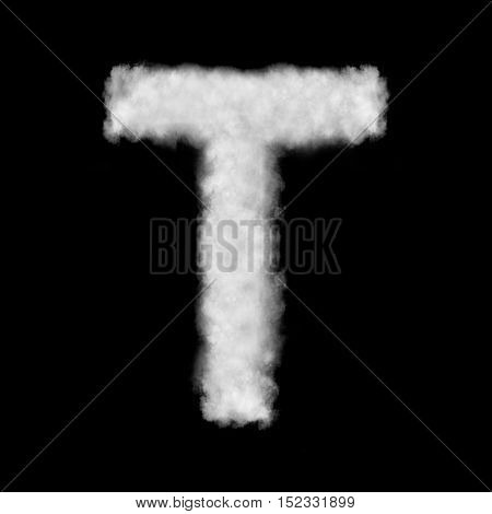 letter T made of the clouds