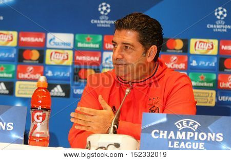 Uefa Champions League Dynamo Kiev V Benfica: Press-conference