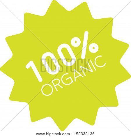 100% Organic Badge Simple