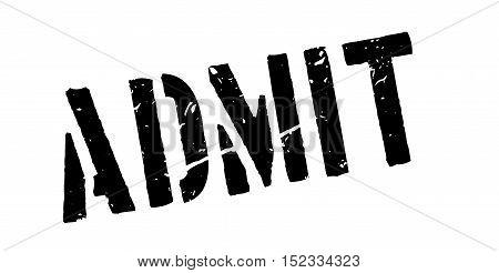 Admit Rubber Stamp