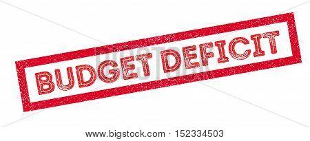 Budget Deficit Rubber Stamp