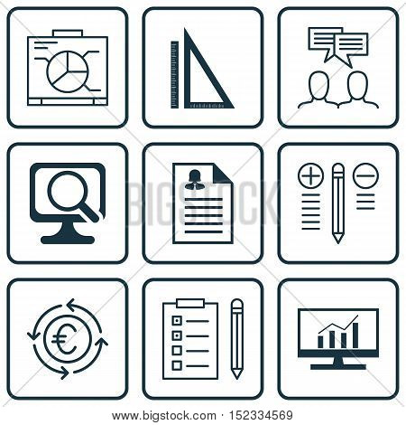 Set Of 9 Universal Editable Icons For Travel, Education And Project Management Topics. Includes Icon