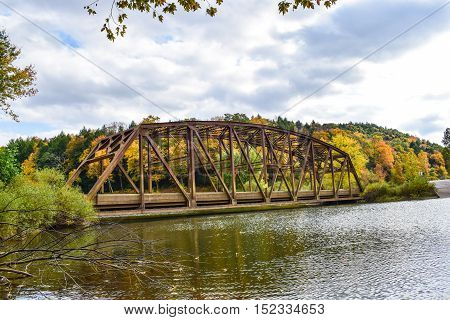 Historic Bridge crossing Tionesta Creek in Western Pennsylvania.