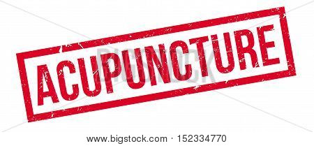 Acupuncture Rubber Stamp