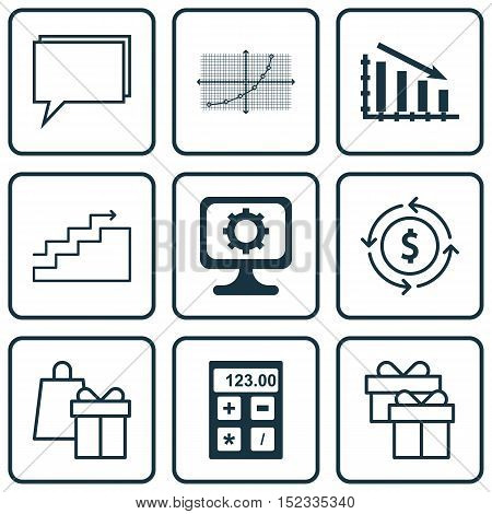 Set Of 9 Universal Editable Icons For Computer Hardware, Airport And Project Management Topics. Incl