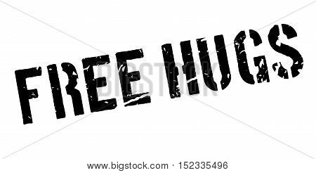 Free Hugs Rubber Stamp