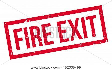 Fire Exit Rubber Stamp