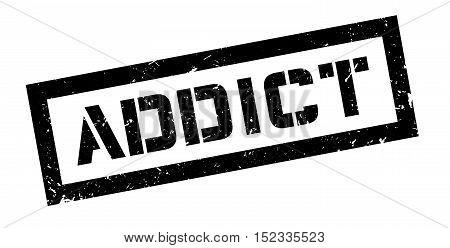 Addict Rubber Stamp
